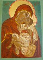 Vierge de tendresse inspirée de Photis Kontoglou