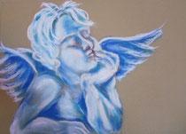 42 - Ange gardien - pastels - 2014