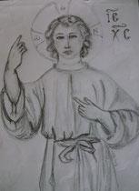 25 - Christ adolescent - crayon - 2013