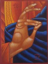 61 - Main bénissant du Christ - dimensions 13x17