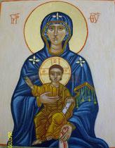 11 - Détail de la Vierge en Gloire