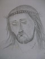 26 - visage du Christ - crayon - 2013