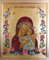 """22 - Notre Dame des parfums (création à partir d'une Vierge de tendresse - février à septembre 2017) - commandée par l'Association """"Patrimoine vivant du pays de Grasse"""" pour la Cathédrale de Grasse"""