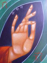 Main bénissant du Christ  15x20 - vendu