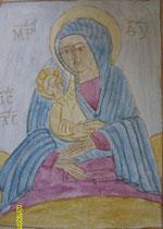 Vierge et enfant - inspirée d'une Icône copte