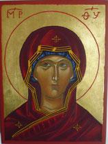 Visage Vierge crétoise du 16e siècle