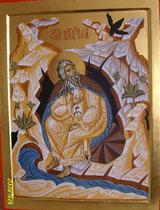 Le Prophète Elie dans sa grotte