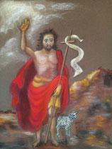170 - Saint Jean Baptiste le Précurseur - avril 2021 - dimensions 40x50 - non encadré - vendu