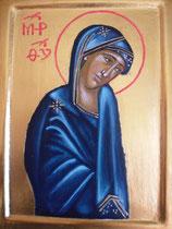 17 - La Mère de Dieu (Icône inspirée d'une Icône de 1395) - vendu
