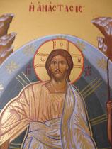 La Résurrection (détail visage duChrist)
