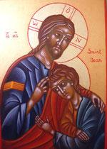 Le Christ et son disciple Bien Aimé Jean