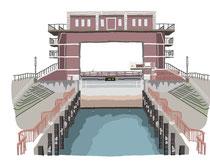 建設 建物 荒川ロックゲート