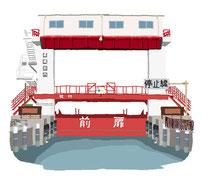 建設 建物 扇橋閘門