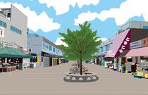 建設 建物 商店街