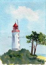 Leuchtturm Hiddensee - Aquarell - 2012 - verkauft