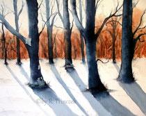 Winterwald - Aquarell - 30 x 40 cm - 2013