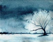 Baum - monochrom - Aquarell - 24 x 32 cm - 2011