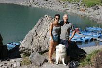 Wir drei am Öschinensee oberhalb Kandersteg