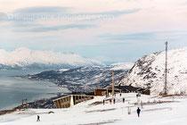 Blick auf Tromsö vom Aussichtsberg Storsteinen