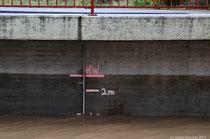 Meine heutigen Bilder entstanden, als das Wasser bereits wieder am Fallen war!