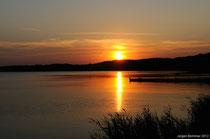 Sonnenuntergang am grossen Haff
