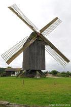 Eine alte Bockwindmühle bei Pudalga