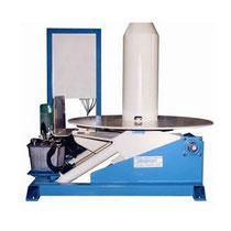 Dérouleur simple à axe vertical motorisé basculant pour chargement suivant axe horizontal