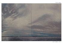 2018年 揺蕩う(たゆたう)雲 F80×2 現展名古屋展中部の賞 中日新聞社賞