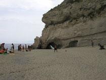 Strand unterhalb der Stadt Tropea