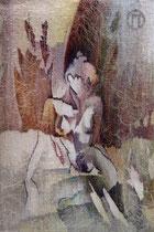 """Ольга Попова,  гобелен  """"Ню"""" 65х45 2005, из коллекции директора БГХМ Лукьяновой Т.А."""