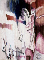 """Ольга Попова,  гобелен """"Одиночество"""" 40х55, 1993, собрание Некрасова С."""