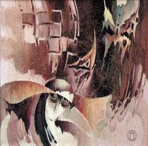 "Ольга Попова,  гобелен  ""Диалог о несвободе"", часть 2,  85х85, 2004, БГХМ"