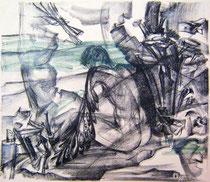 """Ольга Попова.  """"Искушение -2"""", автолитография, 1992"""