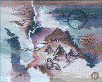 """Ольга Попова,  гобелен  """"Об Изиде-2"""" 55х40, 1993, Польша, частное собрание"""