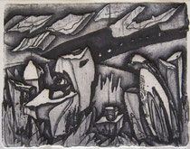 """Ольга Попова. """"Грусть"""", травление, 1991"""