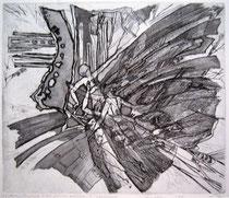 """Ольга Попова. """"Бабочки, танцующие в свете уличного фонаря"""", травление, 1991"""