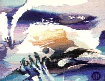 "Ольга Попова,  гобелен  ""Комета"", 45х55 1993, частное собрание"
