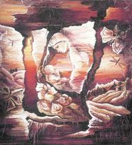 """Ольга Попова,  гобелен """"Истоки"""", 1989, 150х150, БДТ"""