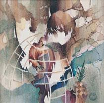 "Ольга Попова,  гобелен ""Диалог о несвободе"", часть 1,  85х85, 2004, БГХМ"