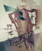"""Ольга Попова,  гобелен """"Странствие Психеи или Я погружаю руки в волны грёз"""", часть 2, 87х85, частное собрание"""