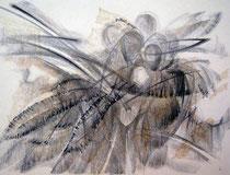 """Ольга Попова. """"В ожидании"""", автолитография, 1992"""