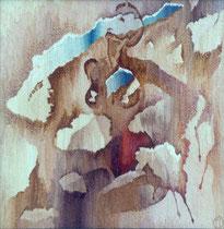 """Ольга Попова,  гобелен  """"Момент истины"""", 105х105, 1991,частное собрание"""