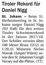 13. September 2017: Tiroler Tageszeitung
