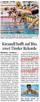 3. Juli 2016: Tiroler Tageszeitung