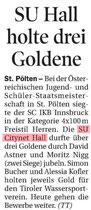 31. Juli 2016: Tiroler Tageszeitung