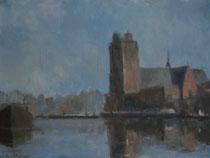 Grote Kerk met Kalkhaven (30 cm X 40 cm)