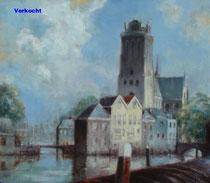 Grote Kerk vanaf de Bomkade (verkocht)