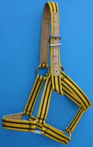 Nr. 54 Nylonhalfter für Kaltblutpferd gelb schwarz von Alois Achatz Pferdeartikel / Horse Products