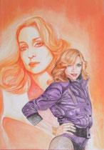 Madonna tecnica tempera e acquerello su cartoncino