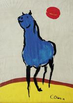 3.) Blaues Pferd, Druck auf Papier 50x70: 000.- €